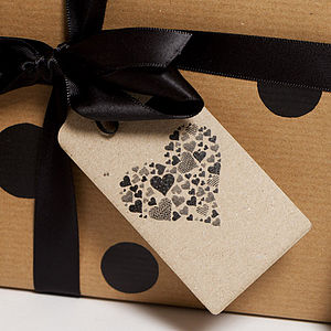 Recycled 'Espresso Heart' Gift Tags - wedding favours