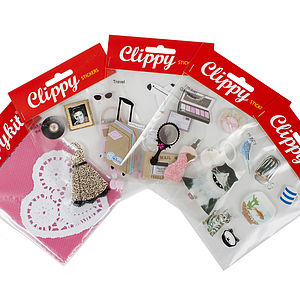 Handmade Scrapbooking Stickers Pack Of Four - stationery