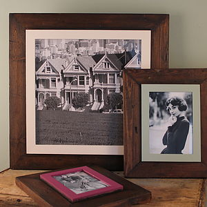 Custom Made Reclaimed Wooden Frame - picture frames