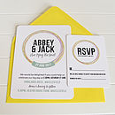 Love Knot Invitation and RSVP