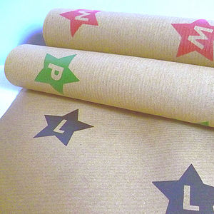 Personalised Alphabet Wrapping Paper Set - cards & wrap