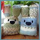 Knit & Personalise Baby Bunnies & Hearts Kit