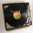 Personalised Vintage Garrard Record Clock