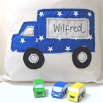 Personalised Boy's Embroidered Cushion
