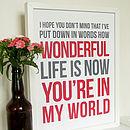 'In My World' Print