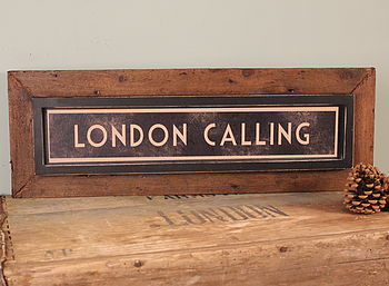 'London Calling' Framed Sign