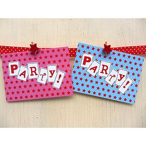 Boy's And Girl's Party Invitations