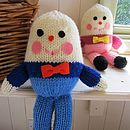 Humpty Dumpty Hand Knitted Soft Toy