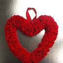 Red Ruffle Heart