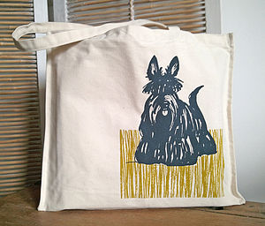 Scottish Terrier Screen Printed Bag - womens