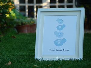 Bird Stack Home Or Family Name Print - children's pictures & paintings