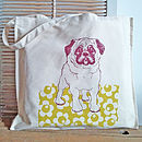 Screen printed canvas shopper