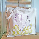West Highland Terrier Canvas Shopper