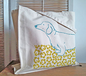 Dachshund Screen Printed Bag - womens