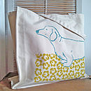 Dachshund Screen Printed Bag