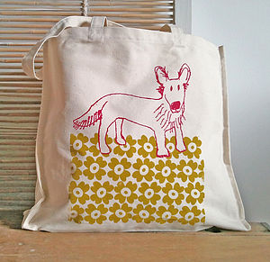 Dog Canvas Shopper - bags & purses
