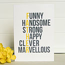 'Marvellous Dad' Father's Day Card