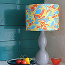 Carnival Hand Marbled Silk Lampshade