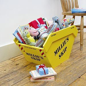 Toy Skip Toy Box With Personalised Option - children's room accessories