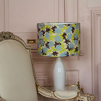 Ipanema Hand Marbled Silk Lampshade