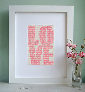 Personalised 'In The Words Of' Art Print - children's room