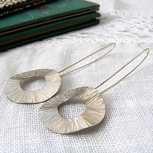 Radiant Silver Drop Earrings