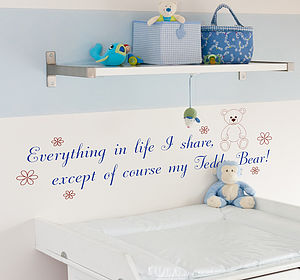 Teddy Bear Wall Quote