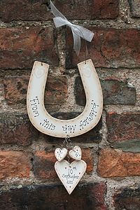 Personalised Handmade Wedding Horseshoe - room signs