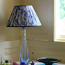 Aqualina Hand Marbled Silk Lampshade