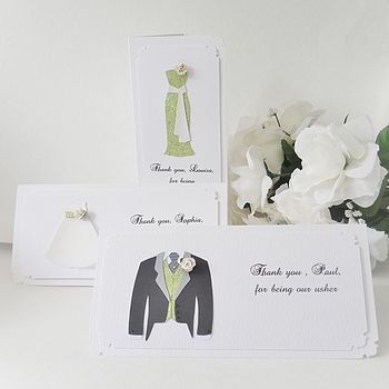 Wedding Party Personalised Thank You Cards