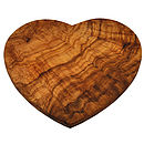 Olive Wood Heart Board
