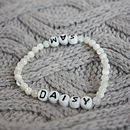 Personalised name bracelet with 2 names
