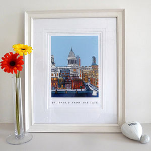 St. Paul's From The Tate London Print