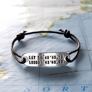 Personalised Location Friendship Bracelet - bracelets