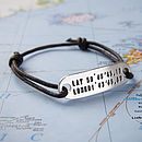 Personalised Location Friendship Bracelet