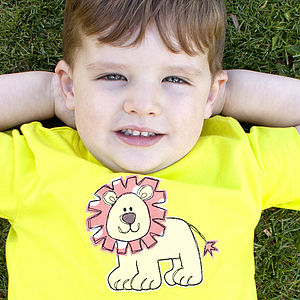 Lion Fabric And Stitch T-Shirt - t-shirts & tops