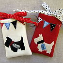 Personalised Ivory & Red Phone Cosies