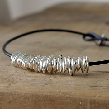 Moonchip Ceramic & Silver Necklace