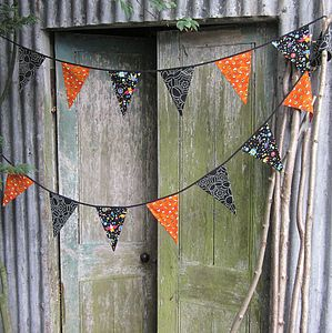 Halloween Glow In The Dark Bunting - room decorations