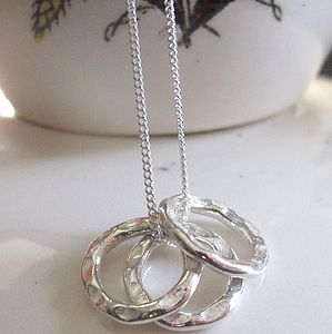 Sterling Silver Hoops Necklace