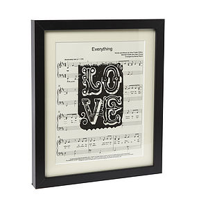 Personalised Sheet Music 'Love' Poster - posters & prints