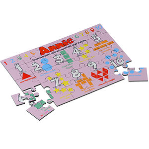 Personalised 'Learn Colours, Numbers and Shapes' Puzzle - toys & games