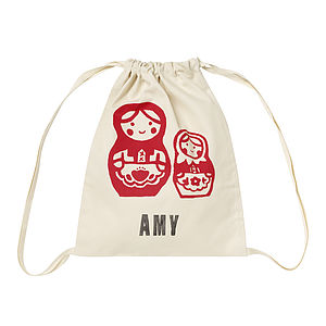Printed Personalised Children's Kit Bag - children's storage