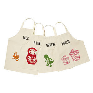 Printed Children's Personalised Aprons - stocking fillers under £15