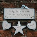 Personalised Handmade Baby Boy Birth Plaque