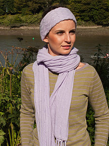 100% Cashmere Head Band - women's fashion