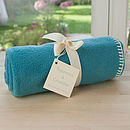 Turquoise Fleece Buggy Blanket