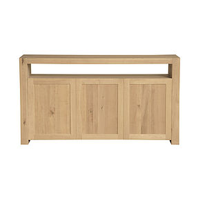 Contemporary Oak Sideboard Double