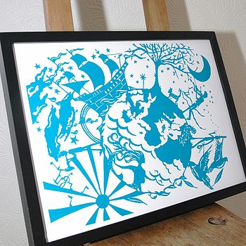 'From The Sea To The Stars' Screen Print