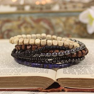 Handmade Men's Beaded Bracelet - men's jewellery